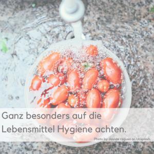 Achhtung Pseudomonas Keim. Für seltene Lungenerkrankungen: ganz besonders auf die Lebensmittelhygiene achten.